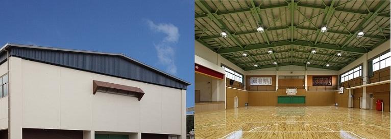 土山体育館屋内運動場非構造部材耐震化(ブログ用)3